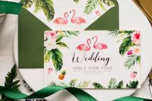 Xu hướng theme cưới flamingo vô cùng nổi bật