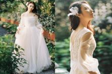 Bí kíp chọn váy cưới cho tiệc cưới ngoài trời