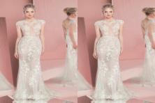 Xu hướng váy cưới xuyên thấu trong năm 2020