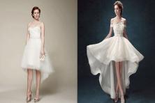 Những mẫu váy cưới dáng ngắn đẹp đến nao lòng